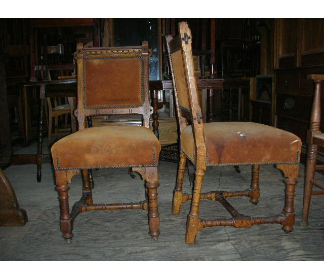 Gothic Revival Mahoganized Oak Hall Chair, c. Probably the rarest and most  fascinating of American Gothic Revival furniture.